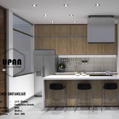 VIVIENDA UNIFAMILIAR CERNA CERCADO: Cocinas equipadas de estilo  por UPAA ARQUITECTOS,