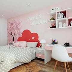 Girls Bedroom by UPAA ARQUITECTOS