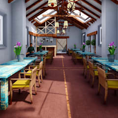 Restaurante Campestre Maras: Comedores de estilo  por FRANCO CACERES / Arquitectos & Asociados,