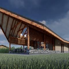 Restaurante Campestre Maras: Jardines de estilo  por FRANCO CACERES / Arquitectos & Asociados,