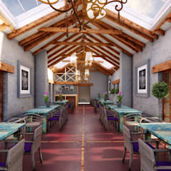 Restaurante Campestre Maras Comedores de estilo rústico de FRANCO CACERES / Arquitectos & Asociados Rústico