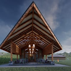 Restaurante Campestre Maras: Terrazas de estilo  por FRANCO CACERES / Arquitectos & Asociados,