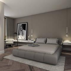 Penthouse:  Slaapkamer door Mariska Jagt Interior Design,