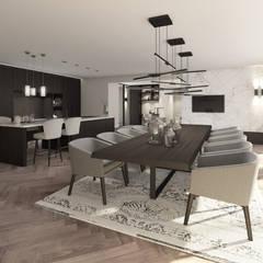 Penthouse:  Eetkamer door Mariska Jagt Interior Design
