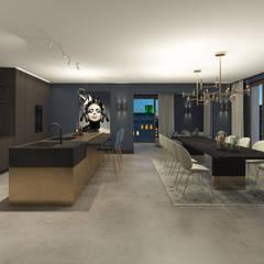 Royal Penthouse:  Eetkamer door Mariska Jagt Interior Design