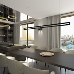 Maisonette:  Eetkamer door Mariska Jagt Interior Design