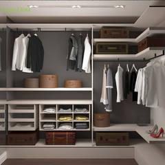 Дизайн двухкомнатной квартиры 70 кв. м в современном стиле: Гардеробные в . Автор – ЕвроДом
