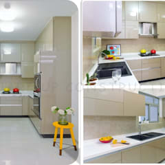 Residential Interiors :  Small kitchens by Square Up Construction & Interiors
