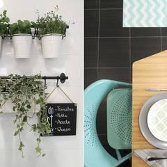 Cocinas pequeñas de estilo  por UVE laboratorio de diseño