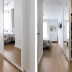 Vivienda Jacinto Calvo: Dormitorios pequeños de estilo  de UVE laboratorio de diseño