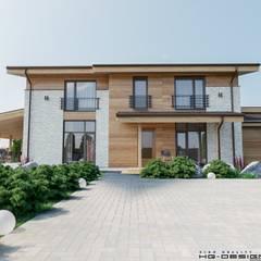 Общий вид главного фасада: Дома на одну семью в . Автор – hq-design