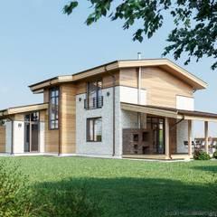 Вид на террасу: Сборные дома в . Автор – hq-design