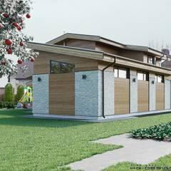 Загородный дом для большой семьи: Дома с террасами в . Автор – hq-design