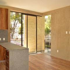 TONALÁ 110: Departamentos de lujo que te van a encantar de MOKALI Carpintería Residencial Moderno Concreto reforzado