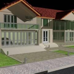 RESIDENCIA EM CONDOMINIO FECHADO: Casas familiares  por DESIGN CENTER ARQUITETURA,Clássico