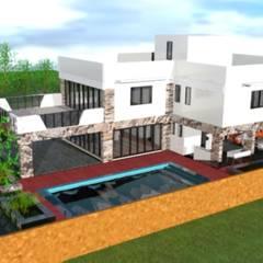 Casa familiar_Condominio Quinta das Mansões: Casas do campo e fazendas  por DESIGN CENTER ARQUITETURA