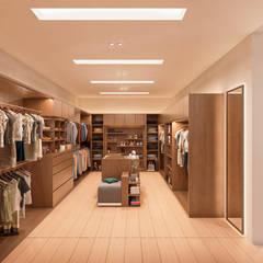 Casa CZ: Vestidores y closets de estilo  por Álvarez Bernés Arquitectura,