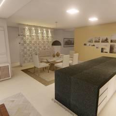 Cozinha em conceito aberto por Igor Cunha Arquitetura Moderno