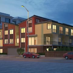 10-unit multifamily building architecture design Redwood City, CA:  Multi-Family house by http://s3da-design.com/