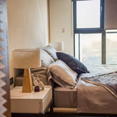 Dormitorios pequeños de estilo  por MSBT 幔室布緹