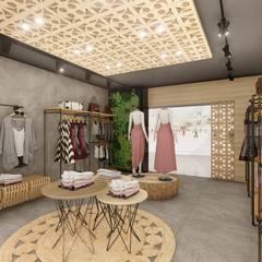 Oficinas y Tiendas de estilo  por 1LLAR Arquitetura