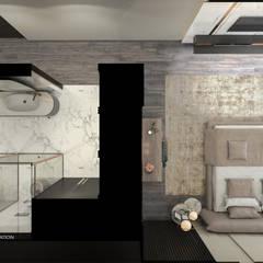 :  غرفة نوم تنفيذ ICONIC DESIGN STUDIO, حداثي