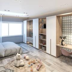 :  غرفة نوم بنات تنفيذ ICONIC DESIGN STUDIO, حداثي