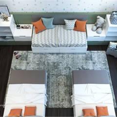 :  غرفة نوم أولاد تنفيذ ICONIC DESIGN STUDIO,