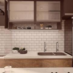 Varanda Gourmet C|F: Varandas  por Domani Arquitetura e Interiores