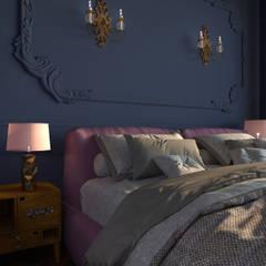 Dormitorios pequeños de estilo  por GK-STUDIO.RU