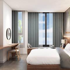 thiết kế khách sạn hiện đại Thanhlong:  Phòng ngủ by thiết kế khách sạn hiện đại CEEB,