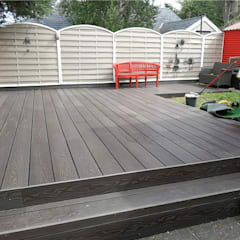 Coowin Composite decking project:  Front yard by Coowin Group, Modern