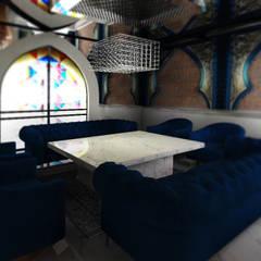 Old World Restaurant:  Bars & clubs door Deev Design, Modern Marmer