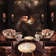 Old World Restaurant:  Bars & clubs door Deev Design, Modern Steen