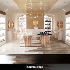 Kedma Shop:  Kantoor- & winkelruimten door Deev Design, Modern Hout Hout