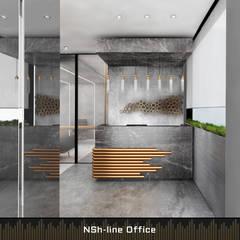 :  Kantoor- & winkelruimten door Deev Design, Modern Zilver / Goud