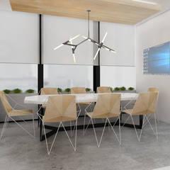 :  Kantoor- & winkelruimten door Deev Design, Modern Hout Hout