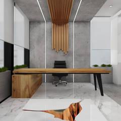 :  Kantoor- & winkelruimten door Deev Design, Modern Koper / Brons / Messing