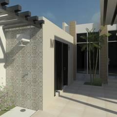 Arq Eduardo Galan, Arquitectura y paisajismo의  정원 수영장, 휴양지