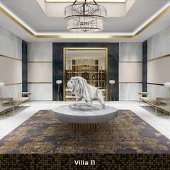 Villa 11:  Gang en hal door Deev Design