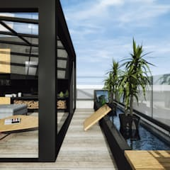 Roof terrace by ofisvesaire , Modern