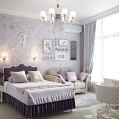 Квартира на ФМР: Спальни для девочек в . Автор – Мастерская дизайна INDIZZ