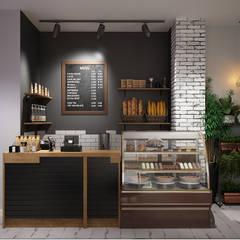 Кофейня в центре Краснодара: Ресторации в . Автор – Мастерская дизайна INDIZZ