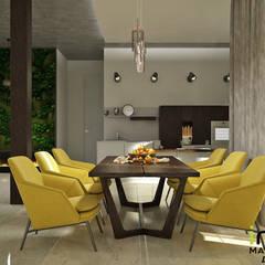 Interiors: Столовые комнаты в . Автор – Мастерская дизайна INDIZZ