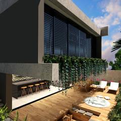 Balcón de estilo  de BAYA ARQUITETOS, Moderno Hormigón