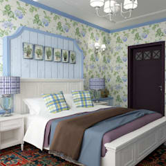 Дизайн квартиры в стиле Прованс: Маленькие спальни в . Автор – Студия Ольги Таракановой,