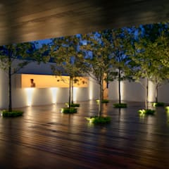 Zen garden by HW Studio Arquitectos, Minimalist Solid Wood Multicolored