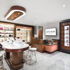Área de venta al publico: Espacios comerciales de estilo  por Sentido Interior Arquitectos