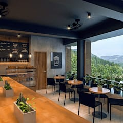 Cafe Eton:  Gastronomy by Arciete + Orillo Architects, Modern