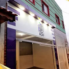 Puertas de garajes de estilo  por North Visual  - Letreiros e Fachada em Acm, Moderno Aluminio/Cinc